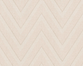 BEIGE ZIGZAG BEHANG - AS Creation Hygge 363843