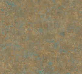 BRONS BLAUW GEMELEERD BEHANG - AS Creation History of Art 37655-9