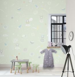 GALAXY MINT FOTOBEHANG - Kidswalls Kay & Liv INK7033