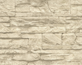 CREME STENEN BEHANG - AS Creation Best of Wood'n Stone 2 7071-30