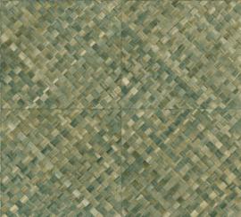 GROEN VLECHTWERK BEHANG - ARTE Selva PANDAN 34100