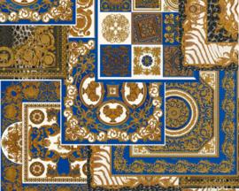 KLASSIEK TRADITIONEEL BAROK BEHANG -  Blauw Goud - AS Creation Versace 4