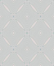 CHIQUE GRAFISCH AQUA ZILVER BEHANG - NWSF41