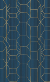 BLAUW GRAFISCH BEHANG - BN Wallcoverings Dimensions 219602