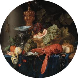 """Behangcirkel Stilleven met een gouden bokaal """"Pieter de Ring (1640-1660)"""" - KEK Amsterdam Wonderwalls CK-014"""