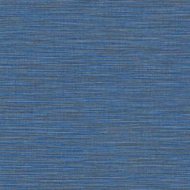 HELDER BLAUW RAFFIA STREEP BEHANG - Caselio WARA 69586266