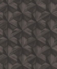 BRUIN ANTRACIET GEOMETRISCH BEHANG - BN Wallcoverings Textured Stories 218410