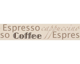 COFFEE, ESPRESSO, CAPPUCCINO BEHANGRAND - AS Creation Only Borders 2662-31