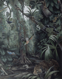 "Behangpaneel​ Tropical Landscape ""Deirdre Hyde (1953)"" - KEK Amsterdam Wonderwalls PA-004"
