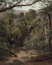 """Behangpaneel Palm Trees """"Eugene von Guérard (1852-1882)"""" - KEK Amsterdam Wonderwalls PA-014"""