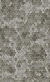 GRIJS BRUIN HEXAGON BEHANG - BN Wallcoverings Dimensions 219589
