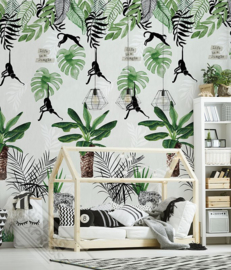 LIFE IS A JUNGLE FOTOBEHANG - KidsWalls Abby & Bryan INK7232