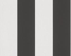ZWART/WIT STREPEN BEHANG - AS Creation Elegance 3 334213