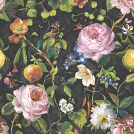 BONTE BLOEMEN EN FRUIT BEHANG - Dutch Glasshouse 90350