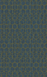 BLAUW HEXAGON BEHANG - BN Wallcoverings Dimensions 219623