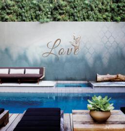 Fotobehang ROCKSTAR LOVE (M) - Vanilla Lime Wallpaper Mural 014148