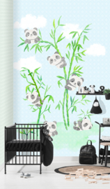 PANDA LOVE FOTOBEHANG - Kidswalls Puck & Rose INK7012