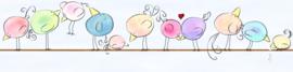 GRAPPIGE VOGELS BEHANGRAND - AS Creation Lovely Kids 403724