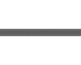 ZWARTE GRIEKSE SLEUTEL BEHANGRAND - AS Creation Only Borders 8959-43