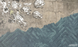 Fotobehang WALLFLOWER (L) - Vanilla Lime Wallpaper Mural 014117