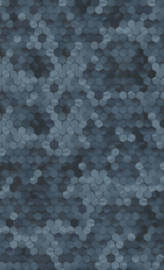 BLAUW HEXAGON BEHANG - BN Wallcoverings Dimensions 219582