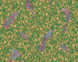 KLASSIEK VOGEL BEHANG - Goud Groen - AS Creation Versace 4