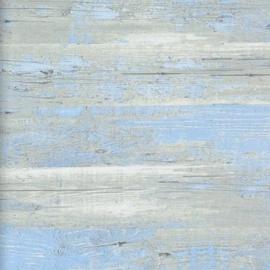 BLAUW/GRIJS HOUT BEHANG - BN Wallcoverings Stijl & Sfeer 47533 ✿✿✿