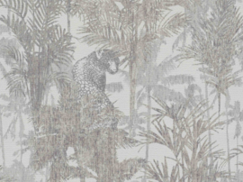 PANTER TUSSEN DE PALMBOMEN BEHANG - BN Wallcoverings Panthera 220101
