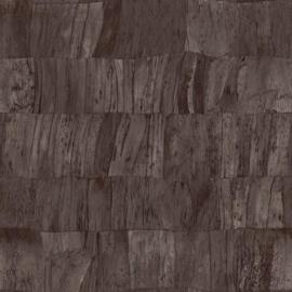 ANTRACIET BRUINE BANANENBLADEREN BEHANG - ARTE Selva CAPAS 34303
