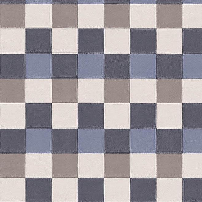 MOZAIEK GESTIKT LEDERLOOK BEHANG - ARTE Atelier PLAZA 21002