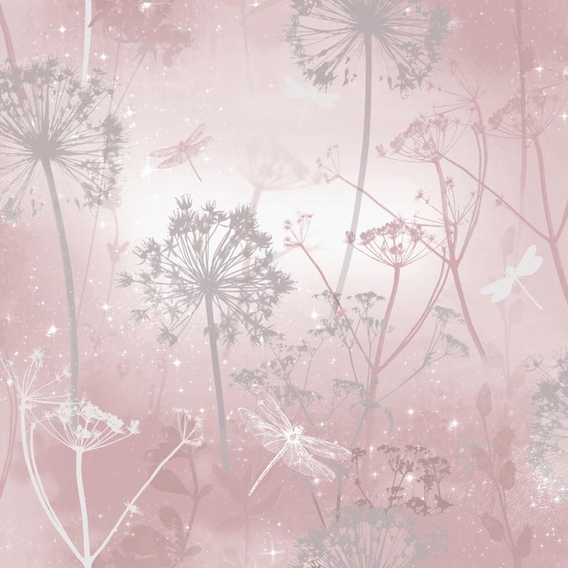BLOEMEN EN LIBELLE BEHANG - Arthouse Fantasia 692305