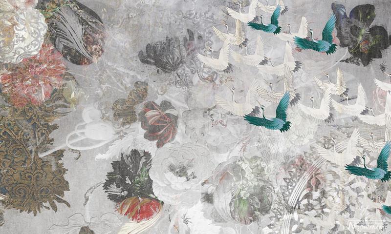 Fotobehang FLY AWAY (L) - Vanilla Lime Wallpaper Mural 014375