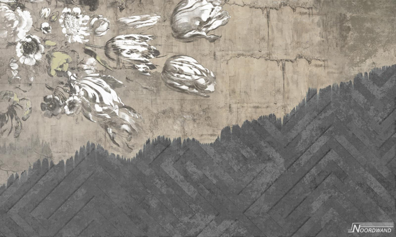 Fotobehang WALLFLOWER (L) - Vanilla Lime Wallpaper Mural 014119
