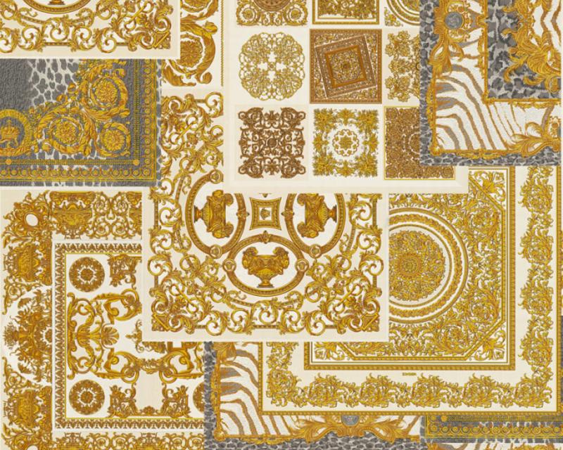 KLASSIEK TRADITIONEEL BAROK BEHANG -  Grijs Goud - AS Creation Versace 4