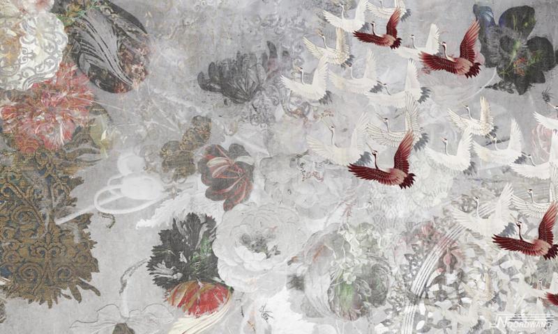 Fotobehang FLY AWAY (L) - Vanilla Lime Wallpaper Mural 014373