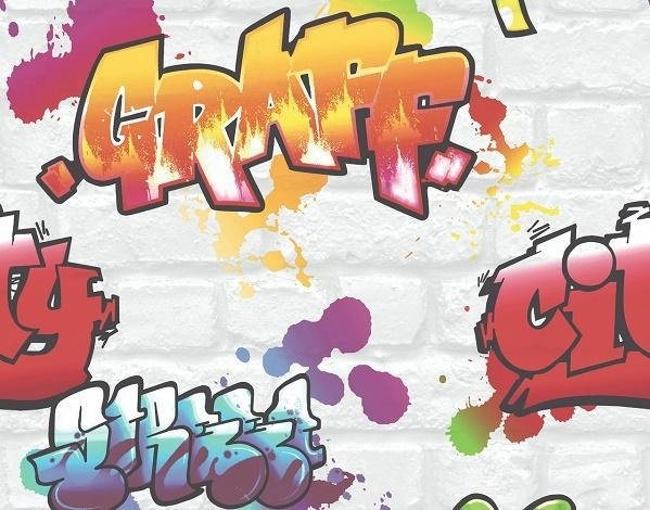 GRAFFITI BEHANG - Rasch 272901 ✿✿✿