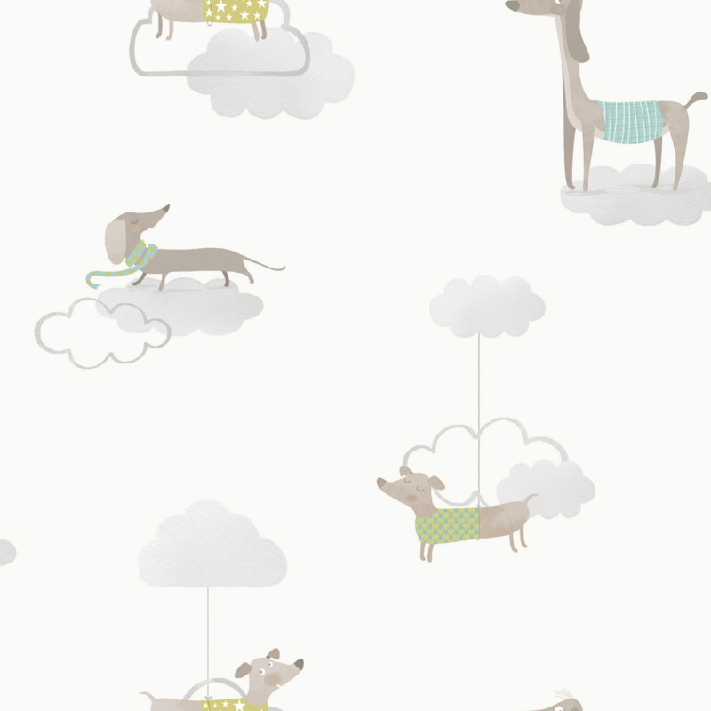 HOND IN DE WOLKEN BEHANG - Dutch Make Believe 12551