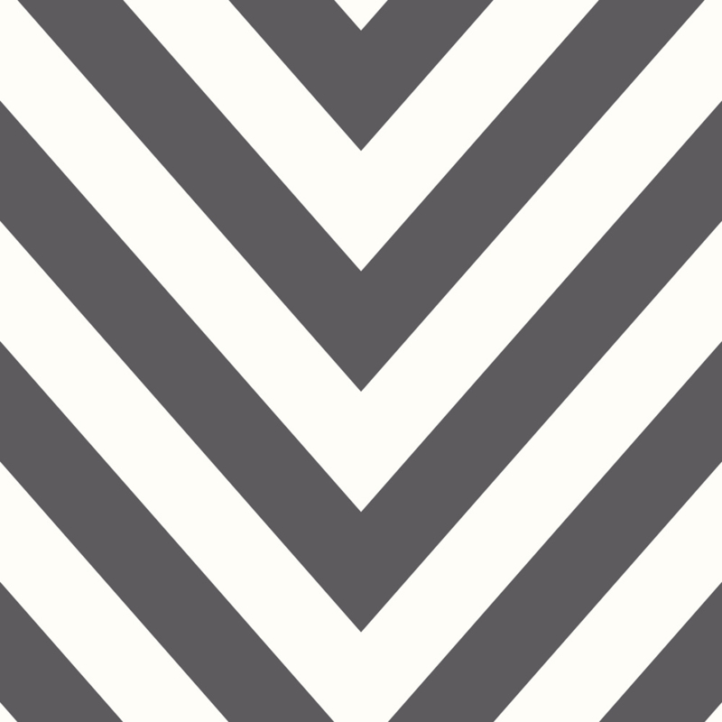 ZWART/WIT CHEVRON BEHANG - Dutch Make Believe 12574