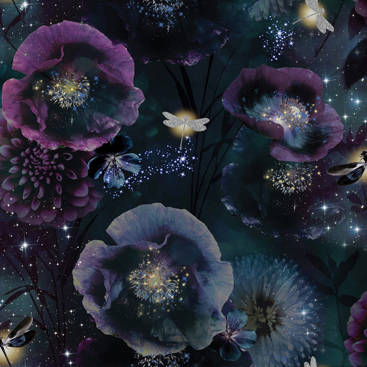 BLOEMEN EN LIBELLE BEHANG - Arthouse Fantasia 692301