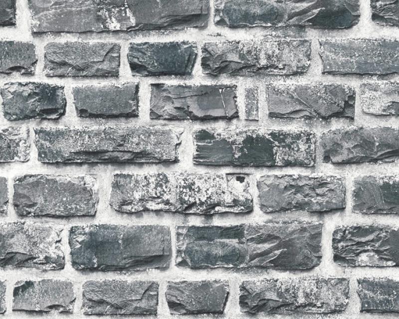 ZWART GRIJS STENEN BEHANG - AS Creation Neue Bude 2.0 361404