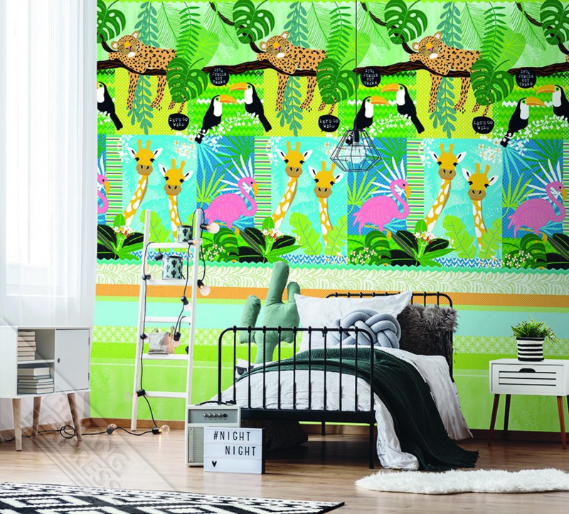 IT'S A JUNGLE OUT THERE FOTOBEHANG - KidsWalls Abby & Bryan INK7237