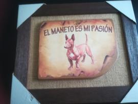 Schilderij op jute Podenco Maneto