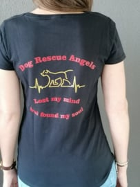 T-shirt : Dogs Rescue Angels....lost my mind but found my soul