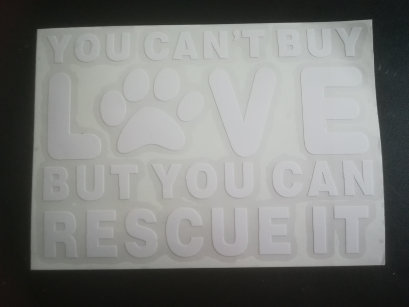 "Sticker ""You can't buy love"""