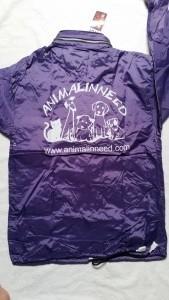 Windbreaker jas  voor volwassenen paars