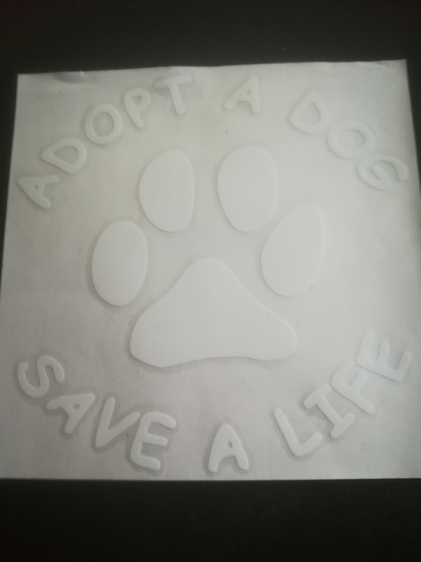 "Sticker ""Adopt a dog, save a life"""