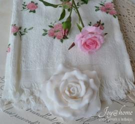 Gastendoekje Clayre & Eef rozen met kunst - en zeeproos