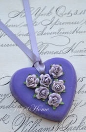 Zeep hartje met roosjes in vele kleurtjes