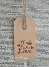 Label Made with love ♥ in 7 kleuren