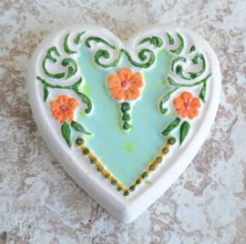 Gekleurde stenen hart